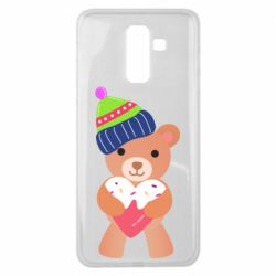 Чехол для Samsung J8 2018 Bear and gingerbread
