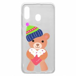 Чехол для Samsung A20 Bear and gingerbread