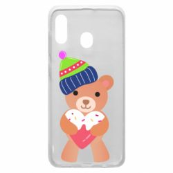 Чехол для Samsung A30 Bear and gingerbread