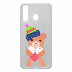 Чехол для Samsung A60 Bear and gingerbread