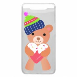 Чехол для Samsung A80 Bear and gingerbread
