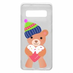 Чехол для Samsung S10 Bear and gingerbread