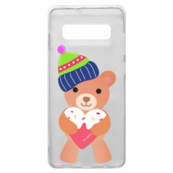Чехол для Samsung S10+ Bear and gingerbread