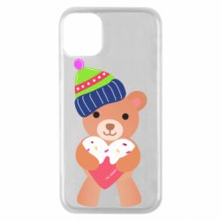 Чехол для iPhone 11 Pro Bear and gingerbread