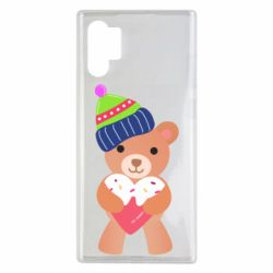 Чехол для Samsung Note 10 Plus Bear and gingerbread