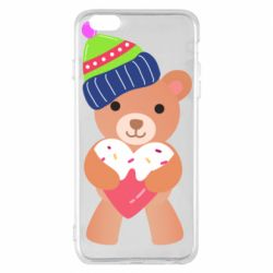 Чехол для iPhone 6 Plus/6S Plus Bear and gingerbread