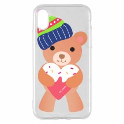 Чехол для iPhone X/Xs Bear and gingerbread