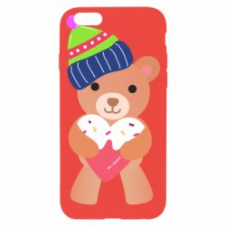 Чехол для iPhone 6/6S Bear and gingerbread