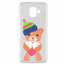 Чехол для Samsung A6 2018 Bear and gingerbread