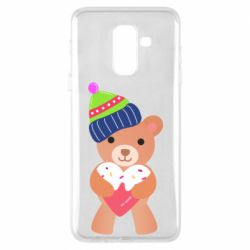 Чехол для Samsung A6+ 2018 Bear and gingerbread
