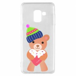 Чехол для Samsung A8 2018 Bear and gingerbread