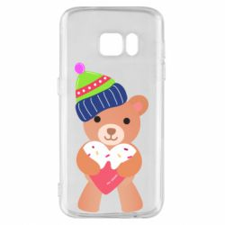 Чехол для Samsung S7 Bear and gingerbread