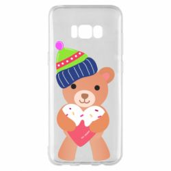 Чехол для Samsung S8+ Bear and gingerbread