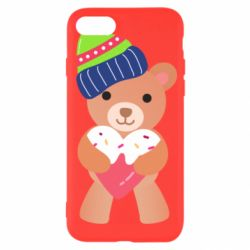 Чехол для iPhone 8 Bear and gingerbread