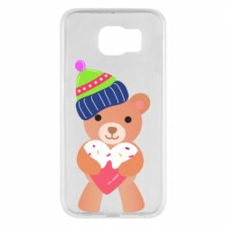 Чехол для Samsung S6 Bear and gingerbread