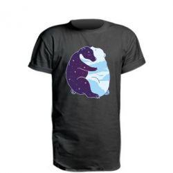 Подовжена футболка Bear day and night