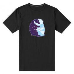 Чоловіча стрейчева футболка Bear day and night