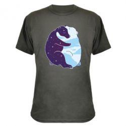 Камуфляжна футболка Bear day and night