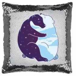 Подушка-хамелеон Bear day and night