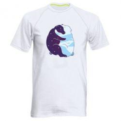 Чоловіча спортивна футболка Bear day and night