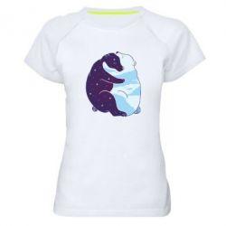 Жіноча спортивна футболка Bear day and night