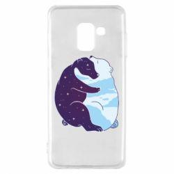Чохол для Samsung A8 2018 Bear day and night