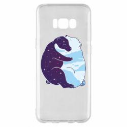 Чохол для Samsung S8+ Bear day and night