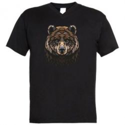 Чоловіча футболка з V-подібним вирізом Bear graphic