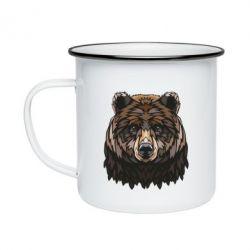 Кружка емальована Bear graphic