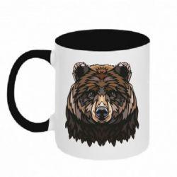 Кружка двоколірна 320ml Bear graphic