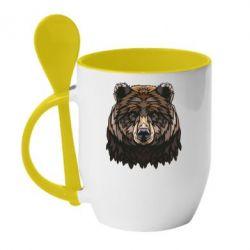 Кружка з керамічною ложкою Bear graphic