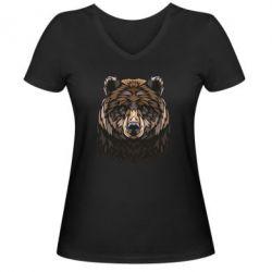 Жіноча футболка з V-подібним вирізом Bear graphic