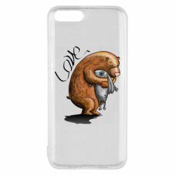 Чехол для Xiaomi Mi6 Bear hugs a hare