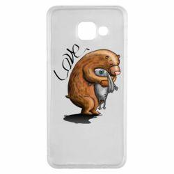 Чехол для Samsung A3 2016 Bear hugs a hare