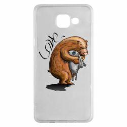 Чехол для Samsung A5 2016 Bear hugs a hare