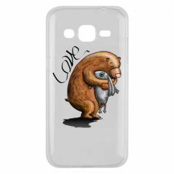 Чехол для Samsung J2 2015 Bear hugs a hare