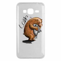 Чехол для Samsung J3 2016 Bear hugs a hare