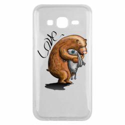 Чехол для Samsung J5 2015 Bear hugs a hare