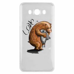 Чехол для Samsung J7 2016 Bear hugs a hare