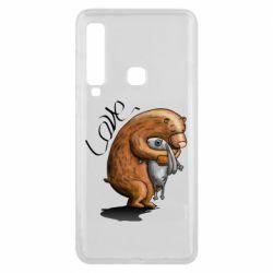 Чехол для Samsung A9 2018 Bear hugs a hare
