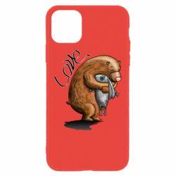 Чехол для iPhone 11 Bear hugs a hare
