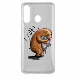 Чехол для Samsung M40 Bear hugs a hare