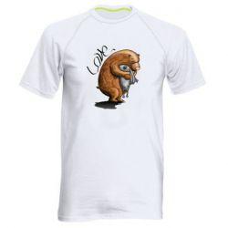 Мужская спортивная футболка Bear hugs a hare