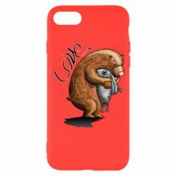 Чехол для iPhone 7 Bear hugs a hare