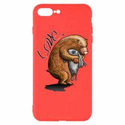 Чехол для iPhone 7 Plus Bear hugs a hare