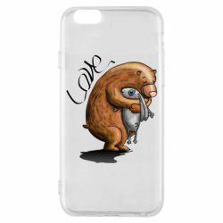Чехол для iPhone 6/6S Bear hugs a hare