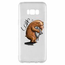 Чехол для Samsung S8+ Bear hugs a hare