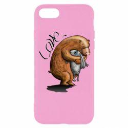 Чехол для iPhone 8 Bear hugs a hare