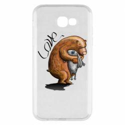 Чехол для Samsung A7 2017 Bear hugs a hare