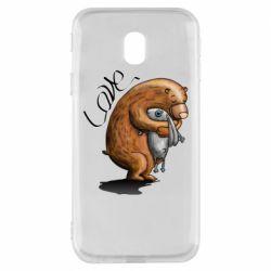 Чехол для Samsung J3 2017 Bear hugs a hare